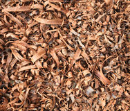 Wooden shavings background Stock Photos
