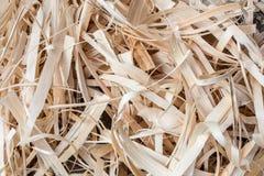 Wooden Shavings Background. Stock Photo
