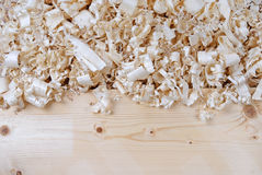 Wooden shavings chips texture Royalty Free Stock Photos