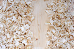 Wooden shavings chips texture Stock Images