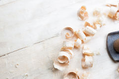Wooden shavings Royalty Free Stock Photography