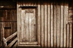Wooden shed doorway Stock Photos