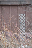 Wooden Shed Metal Fence Textures Royalty Free Stock Image