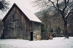 Wooden Shed Royalty Free Stock Images