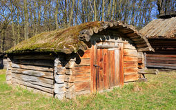 Wooden shed in village Stock Image