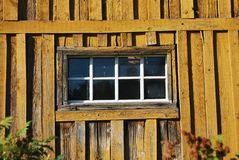 Wooden Shed Window Stock Images