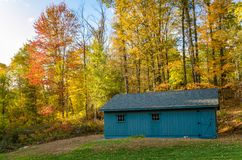 Wooden Shed in a Wood Royalty Free Stock Images