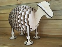 Wooden sheep Stock Photo