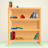 Wooden shelf Stock Photo