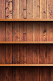 Wooden shelf. Flat wooden shelf for your products Stock Images