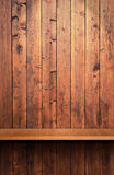 Wooden shelf. Volume wooden shelf for your product Royalty Free Stock Photography