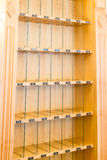 Wooden shelf Royalty Free Stock Photography