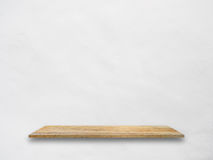 Wooden shelf for display your product Royalty Free Stock Photos