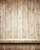 Wooden shelf Stock Images