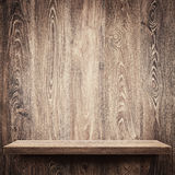 Wooden shelf Royalty Free Stock Image