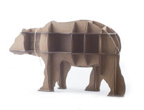 Wooden shelf in the form of a bear Stock Photo