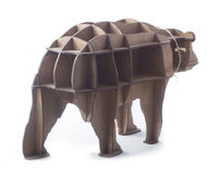 Wooden shelf in the form of a bear Stock Image