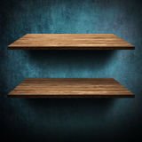Wooden Shelf Royalty Free Stock Photo