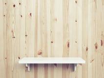 Wooden shelf Royalty Free Stock Photo