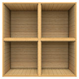 Wooden shelf isolated on white background Royalty Free Stock Photo