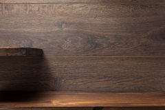 Free Wooden Shelf On Brown Stock Photo - 90353560