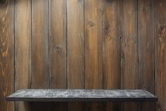 Wooden shelf at plank background texture. Wall stock images