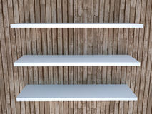 Wooden shelf Stock Photography