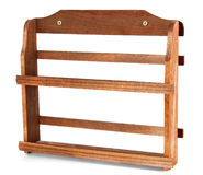 Wooden shelf for spice Royalty Free Stock Photo