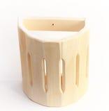 Wooden shelf on white Stock Photography