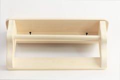 Wooden shelf on white background Stock Photo