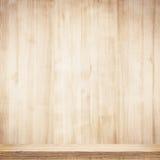 Wooden shelf Royalty Free Stock Image