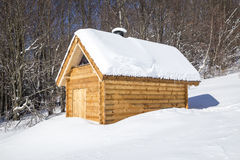 Wooden shelter Royalty Free Stock Image