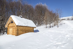 Wooden shelter Stock Images