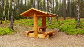 Wooden shelter Stock Photos