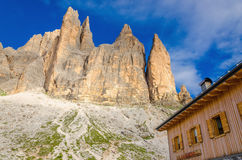 Wooden shelter with shutters, Italy Stock Images