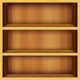 Wooden shelves background Royalty Free Stock Photography