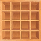 Wooden Shelves Background. Wooden Bookshelf. Conceptual Vector Background Royalty Free Stock Image