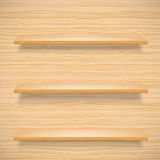 Wooden shelves Stock Photography