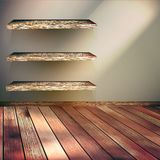Wooden shelves background. EPS 10 Stock Photography