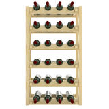 Wooden shelves with bottles of wine isolate on white background.. Royalty Free Stock Photos