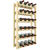 Wooden shelves with bottles of wine isolate on white background.. Royalty Free Stock Photography