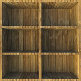 Wooden shelves Royalty Free Stock Photos