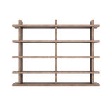 Wooden shelves Stock Photo