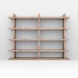 Wooden shelves Royalty Free Stock Photos