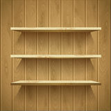 Wooden shelves Royalty Free Stock Photography