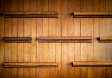 Wooden shelves Royalty Free Stock Images