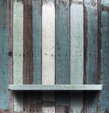 Wooden shelves. Grunge industrial interior Uneven diffuse lighting version. Design component Stock Photos