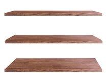 Wooden shelves Stock Images