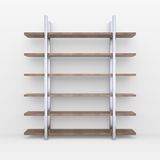 Wooden shelves with metal stands Stock Photography