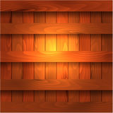 Wooden shelves, sectors, trims Stock Photography